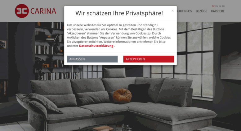 Access carina-polstermoebel.de. Home - Carina Polstermöbel-Vertriebs ...