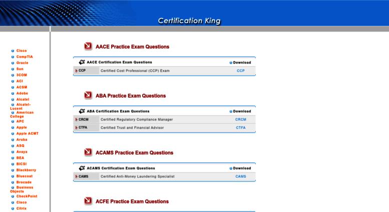 Access certificationking.net. Braindumps-Latest IT Certification ...