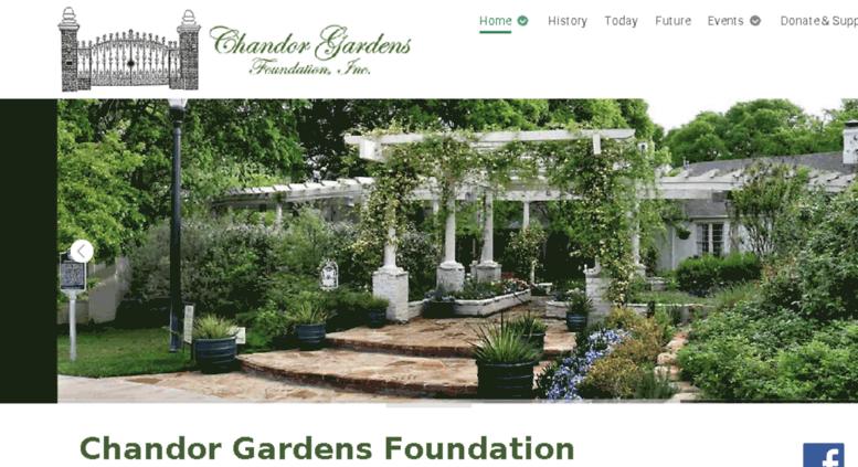 Access chandor.pro-epic.com. Home - Chandor Gardens Foundation