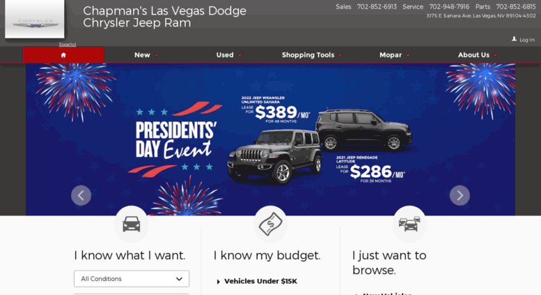 Chapmanslasvegasdodge.com Screenshot