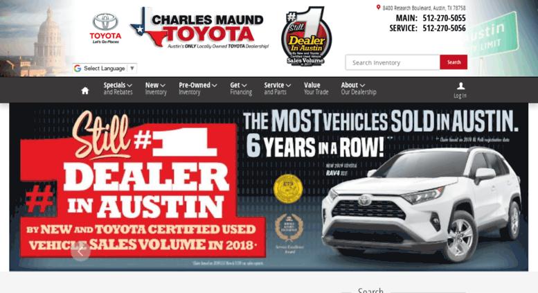 Charlesmaundtoyota.com Screenshot