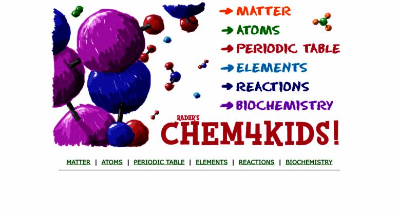 Access Chem4kids Raders Chem4kids Chemistry Basics For