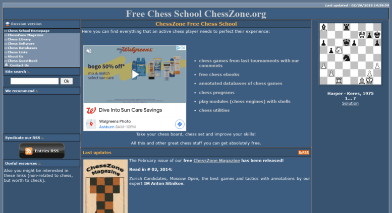 Access Chesszone Org Free Online Chess School Download Free Chess