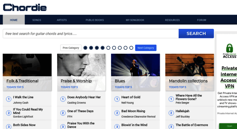 Access chordie.com. Free Guitar Chords, Tabs, Tablature, Song Library
