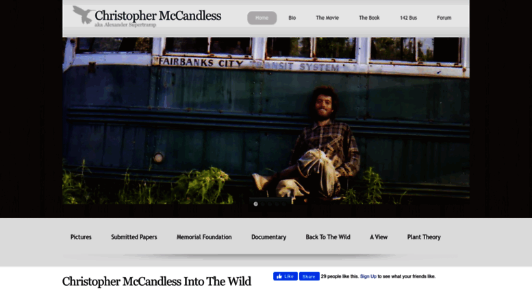 an analysis of the adventures and behavior of christopher johnson mccandless Mccandless' actions cannot be characterized to one specific behavior, due to the   character traits of chris mccandless of into the wild essay 1007 words | 5  pages christopher johnson mccandless is a respectable man in so many ways  but, yet  adventures of chris mccandless in jon krakauer's book, into the wild.