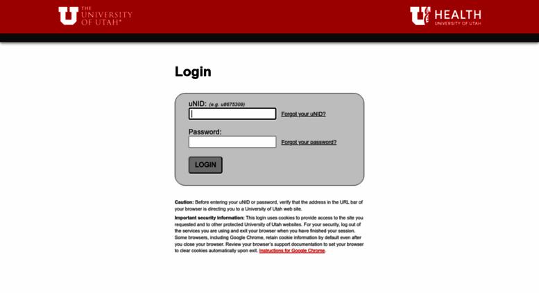 Access Cis Utah Edu Login The University Of