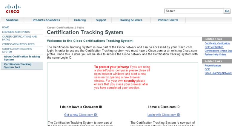Access cisco.pearsoncred.com. Cisco - Login