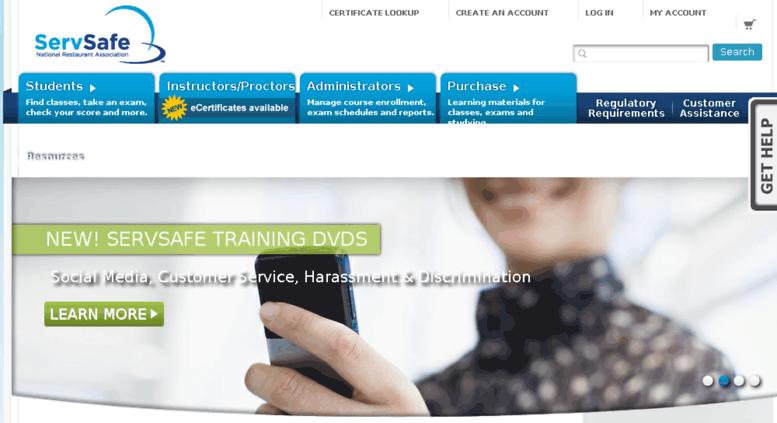 Access cmstest.servsafe.com. ServSafe® Food Handler, Manager and ...