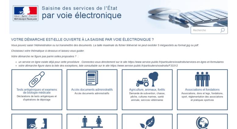 Access contacts-demarches.interieur.gouv.fr. Saisine des services de ...