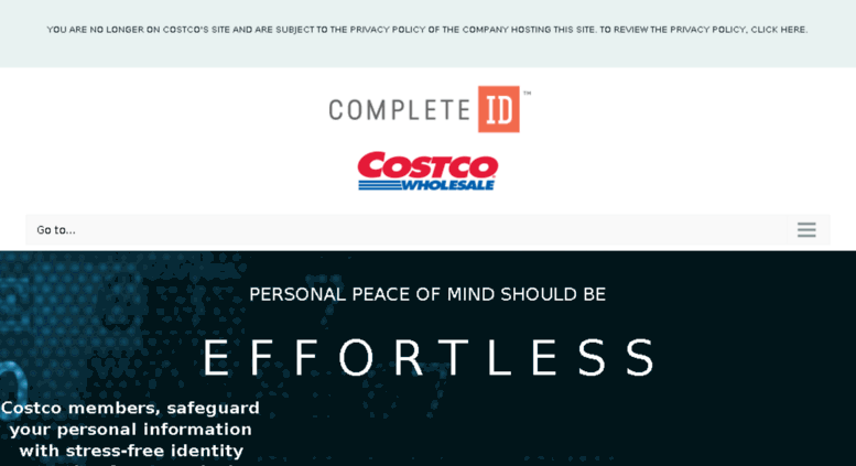 Costco Complete Id >> Access Costcoidprotect Com Complete Id Identity Theft Protection