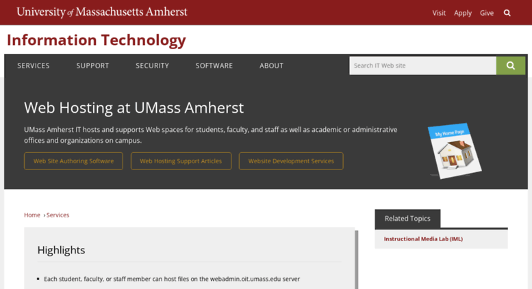 Access Coursesumassedu Web Hosting At Umass Amherst Umass