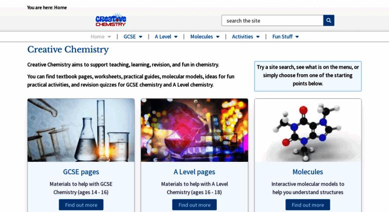 Access creative-chemistry.org.uk. Creative Chemistry - fun ...