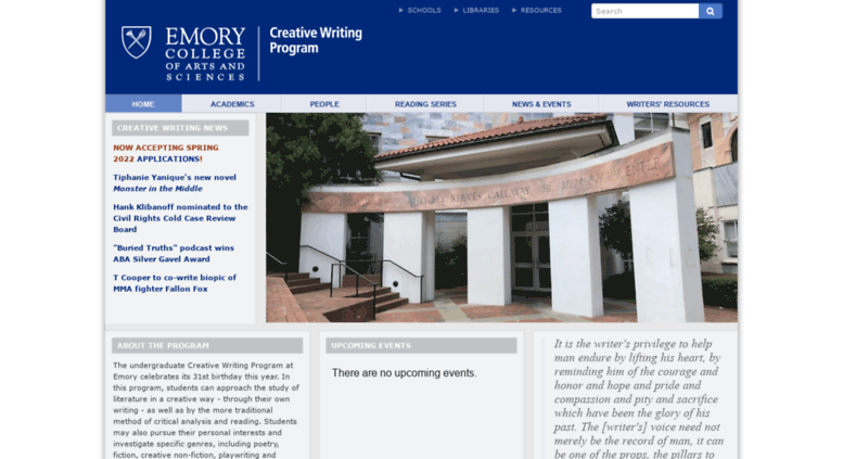 emory creative writing contest