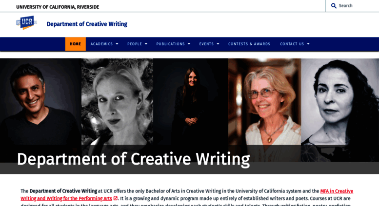 ucr creative writing senior thesis Our faculty is comprised of poets, fiction writers and playwrights who develop and   g) four (4) units of crwt 195 or crwt 195h (senior honors thesis) or.
