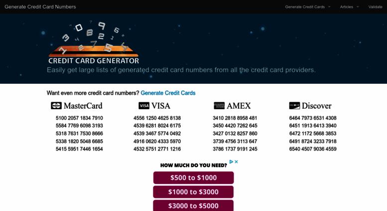 Credit Card Generator 1.9