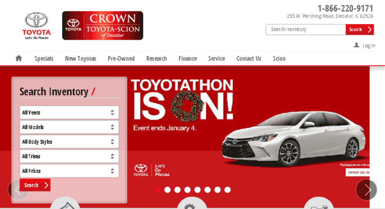 Crowntoyotascion.calls.net Screenshot