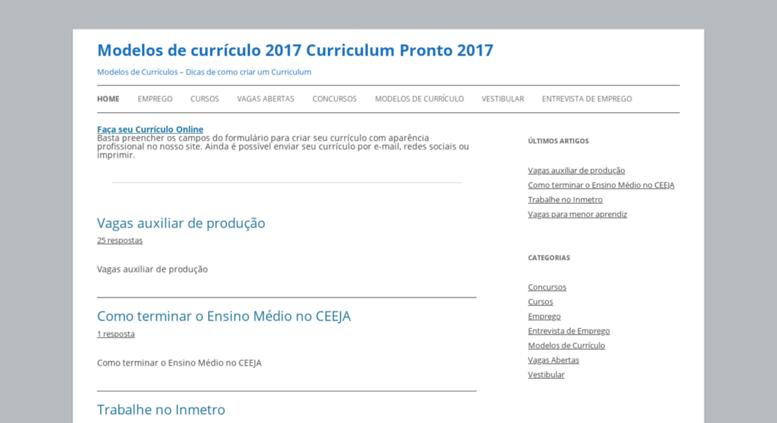 curriculosecurriculumcom screenshot