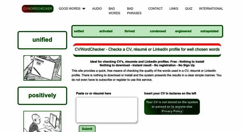 access cvwordchecker com  cv word checker free cv check  linkedin check  resume check
