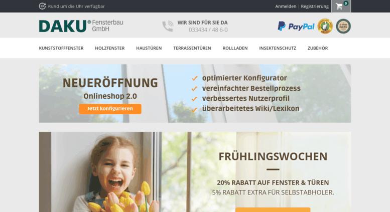 access daku fenster jetzt online konfigurieren