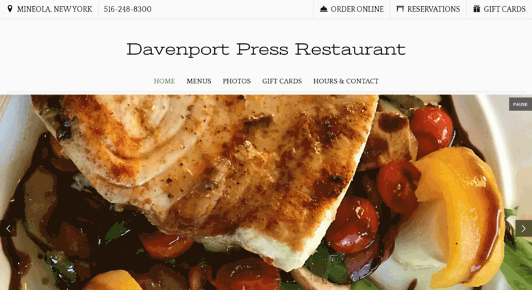 Davenport Press Restaurant Mineola New York