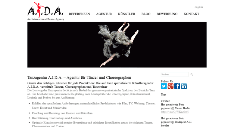 deaida dancerde screenshot - Aida Bewerbung