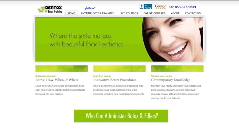 Access dentox.com. Dentox: Botulinum Toxins (Botox) Certification ...