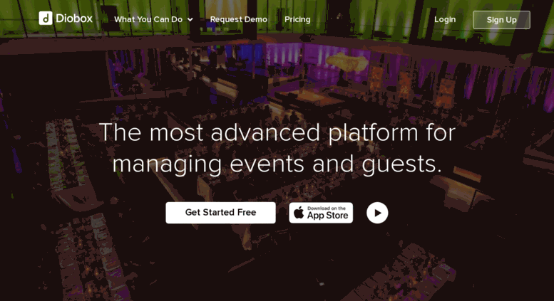 access diobox com event guest list app with rsvps tables and