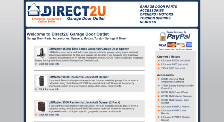 Access Direct2ugaragedoors Direct2u Garage Door Outlet