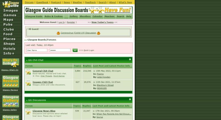 Glasgow chat forum