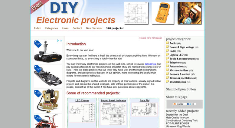 access diy electronic projects com free electronics projects and