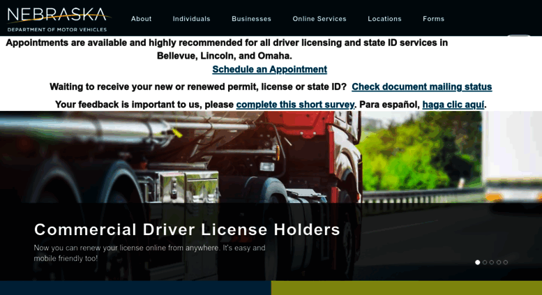 nebraska motor vehicle registration