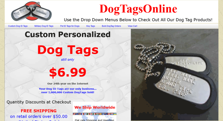 access dogtagsonline com military dog tags and custom pet id tags