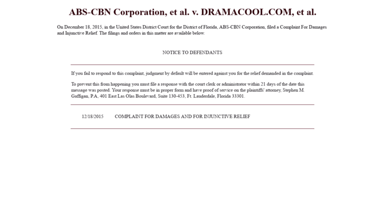 Access dramanice abs cbn corporation et al v dramacool dramanice screenshot stopboris Gallery