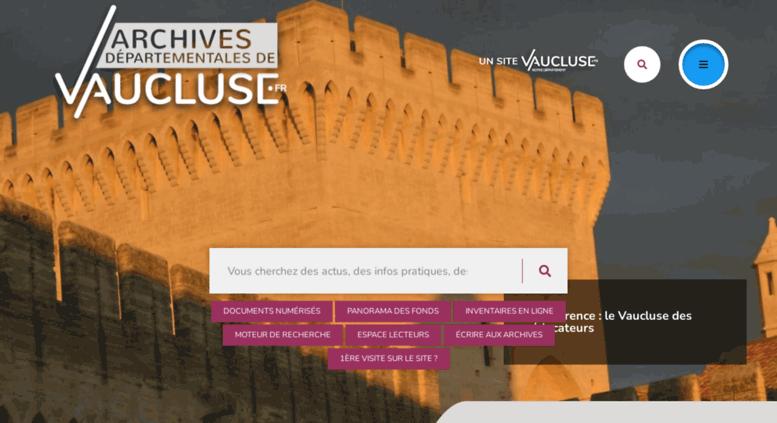 e archives vaucluse