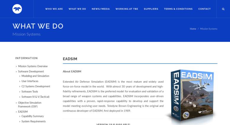Access eadsim.com. EADSIM Home