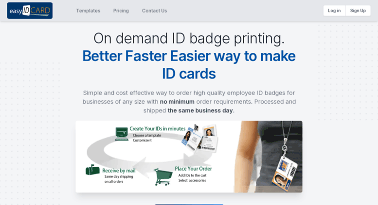 access easyidcard com online id badge maker get custom photo id