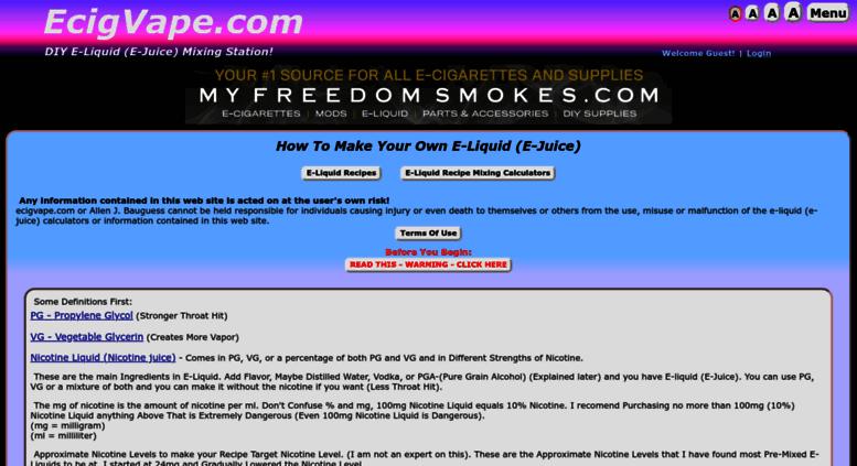 Access ecigvape do it yourself e liquid e juice recipe mixing ecigvape screenshot solutioingenieria Gallery