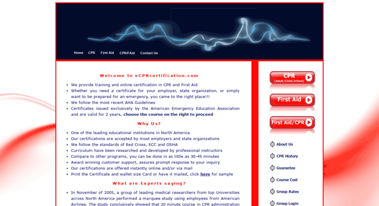 Access ecprcertification.com. Online CPR & First Aid Certification