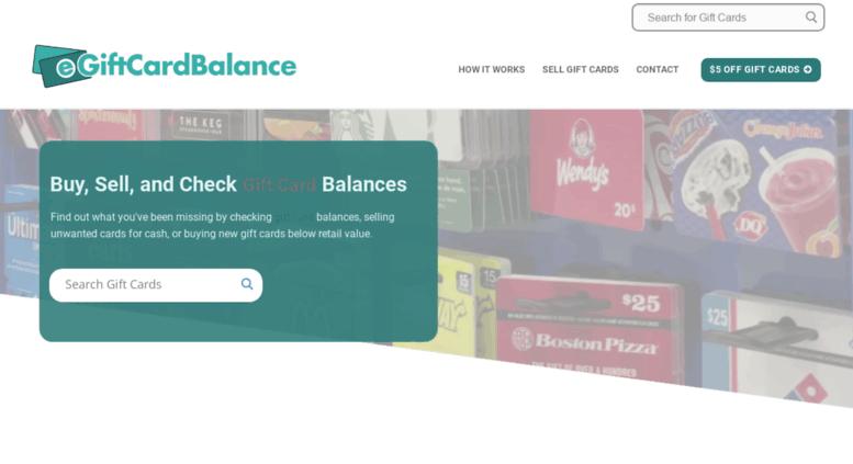 Access egiftcardbalance.com. Gift Card Balance – Check your gift ...