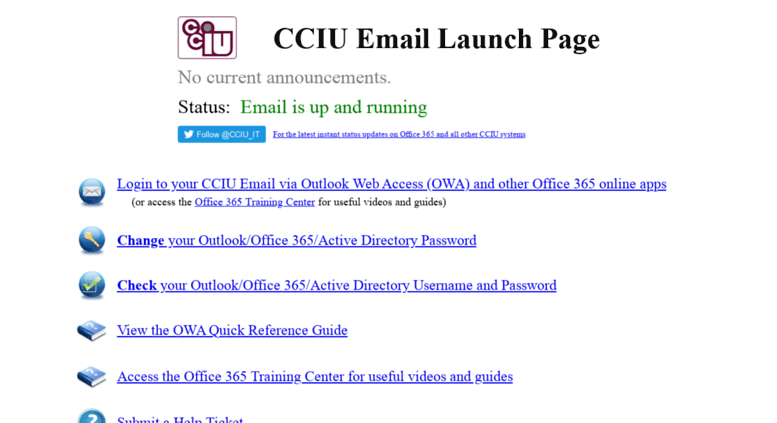 access email cciu org cciu email launch page