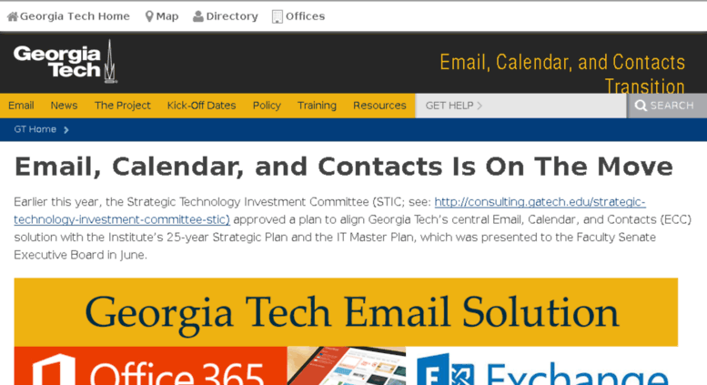 Access Emailtransition Gatech Edu Email Calendar And Contacts Is