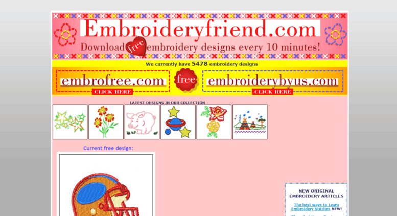Access Embroideryfriend Download Free Embroidery Designs Every