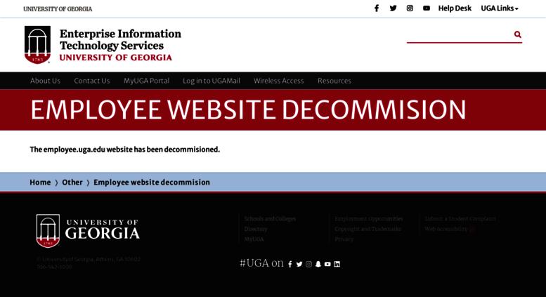 Employee.uga.edu Screenshot