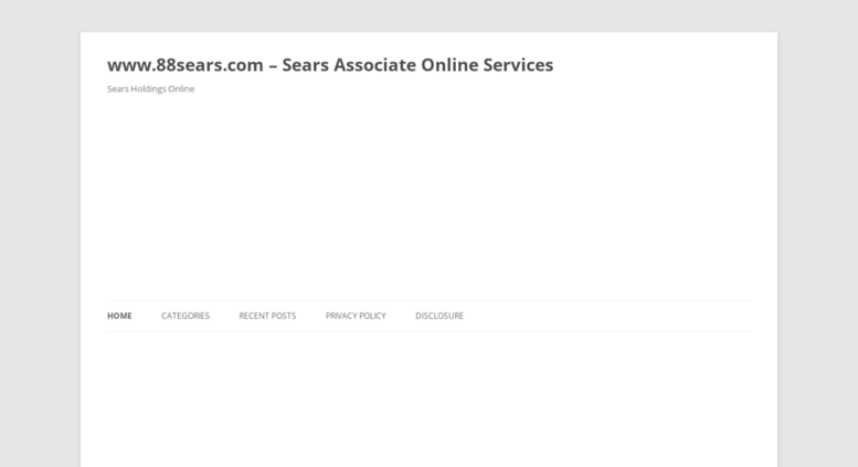 Access employeeonlineservices.org. www.88sears.com - Sears Associate Online  Services - Sears Holdings Online