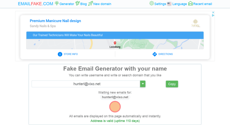 Access en.emailfake.com. Fake Email Generator - free online mail ...