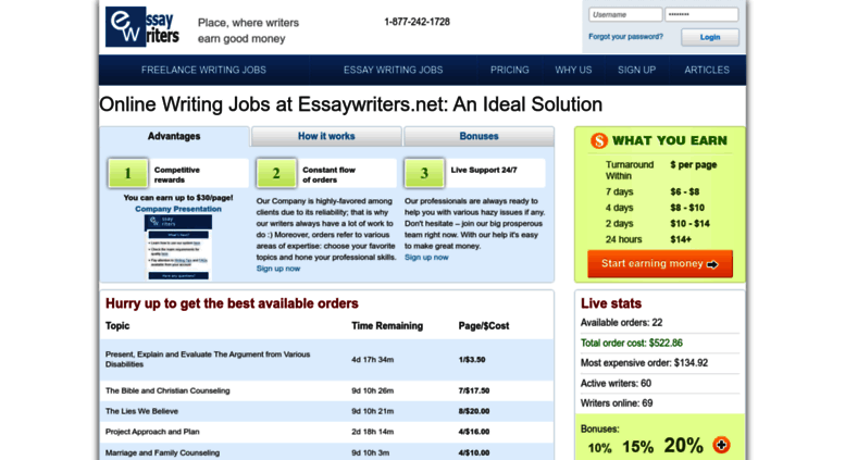 working with essaywriters.net