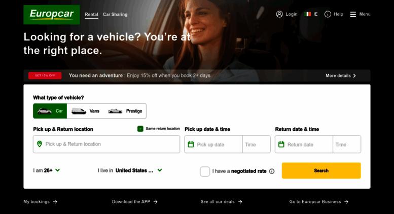 Access Europcar Ie Car Rental Van Rental Ireland And Worldwide