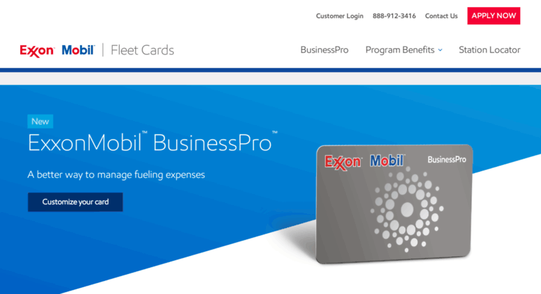 exxonmobilfleetcardscom screenshot - Fleet Gas Cards