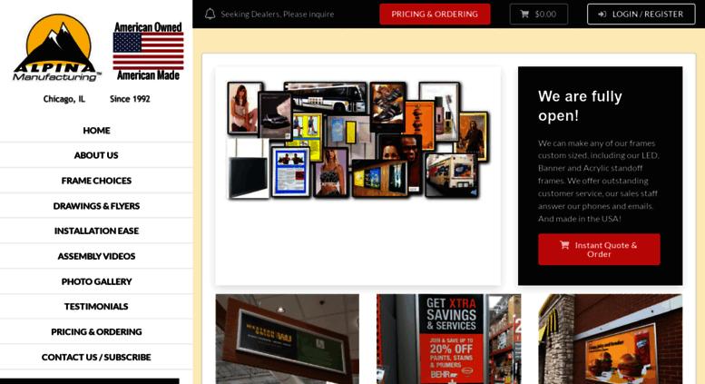 Access Fastchangeframescom Aluminum Picture Frames Snap Poster - Alpina snap frames