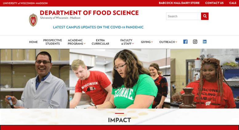 university of wisconsin madison food science